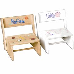 Personalized Flip Step Stool!  sc 1 st  Pinterest & Vintage childu0027s children step stool chair by Raidersoflostloot ... islam-shia.org