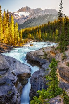 Mistaya canyon in the Canadian Rockies  (by Chris Greenwood on 500px)