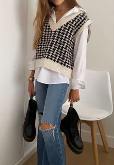 Adrette Outfits, Indie Outfits, Retro Outfits, Cute Casual Outfits, Stylish Outfits, Winter Outfits, Vintage Outfits, Outfits For Spring, Ootd Winter