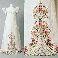 1815 embroidered muslin dress