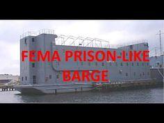 Fema Barges Resembling Floating Prisons Arrive @ Port Arthur TX To House...
