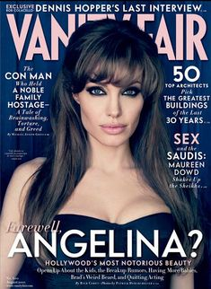 Photos: Angelina Jolie's Sultry Shoots for Vanity Fair Relationship Timeline, Vanity Fair Magazine, Fashion Magazine Cover, Magazine Covers, Brad Pitt And Angelina Jolie, Le Jolie, Jolie Photo, Glamour, Capes