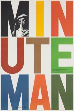 Paul Rand ~ Minute Man National Historical Park, 1975. Courtesy of the Paul Rand Estate