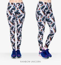 Colorful Leggings - Rainbow Unicorn