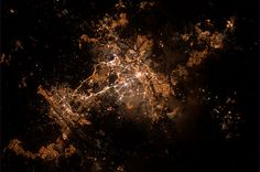 Johannesburg at night by André Kuipers, via Flickr