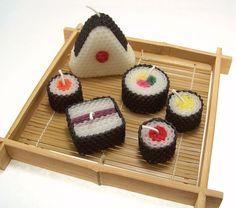 Sushi Candle Gift Set Original Assorted Sushi by doublebrush, $16.95