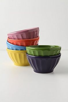 Anthropologie latte bowls - jewel assorted $20 #anthropologie #bowls #dishes