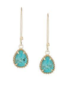 Shelly Delicate Earrings in Turquoise - Kendra Scott Jewelry