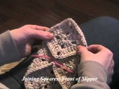 Learn Crochet Now - Crochet Project 12, Granny Square Slippers - YouTube