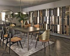 Klasyczna jadalnia w sąsiedztwie kuchni - Inspiracja - HomeSquare Scandinavian Dining Chairs, Industrial Dining Chairs, Dining Table Chairs, Living Room Chairs, Living Room Furniture, Dining Room, Modern Interior, Interior Styling, Interior Decorating