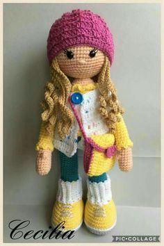 Mesmerizing Crochet an Amigurumi Rabbit Ideas. Lovely Crochet an Amigurumi Rabbit Ideas. Crochet Patterns Amigurumi, Amigurumi Doll, Amigurumi Tutorial, Crochet Gifts, Cute Crochet, Crochet Tops, Easy Crochet, Knitting Projects, Crochet Projects