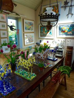Mark Hearld and Emily Sutton's home and studios, York Open Studios, 2015 (Photo: Louise Batchelor)