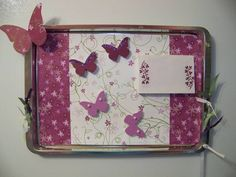 Magnetic Cookie Sheet cute for little girls room maybe use scrap book paper or vinyl decals