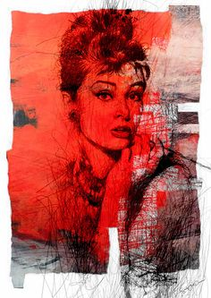 Audrey Hepburn Collage art giclee Hollywood actress