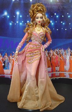 pageant doll, fashion doll, OOAK Barbie NiniMomo's Miss Italy 2011