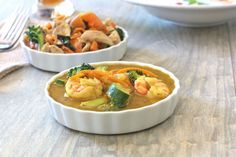 An easy dairy and grain-free yellow curry made from scratch- Thai Yellow Curry with Prawns