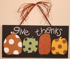 Fall Art- Give Thanks by Lane McKinley