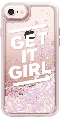 Casetify iPhone 7 Glitter Case - GET IT GIRL by Lauren Davis #Casetify