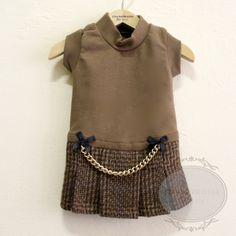 kilt designer dog dress nut tartan $144.00 #inamorada #bitchnewyork #designerdogdress #caninecouture #dogdress