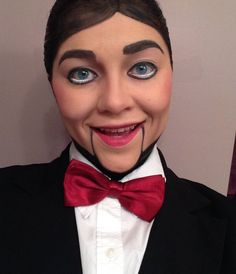 Ventriloquist Dummy Creepy Doll Makeup Tutorial