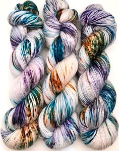 A personal favorite from my Etsy shop https://www.etsy.com/ca/listing/586105139/hand-dyed-yarn-sundog-blue-violet-teal