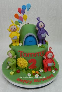 2nd Birthday cake - Telly Tubbies