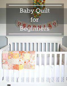 great tutorial on beginner baby quilt