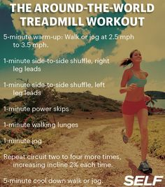 10 Boredom-Busting Treadmill Workouts: Workouts: Self.com