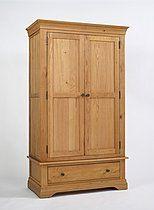 Bordeaux Oak Double Wardrobe with Drawer
