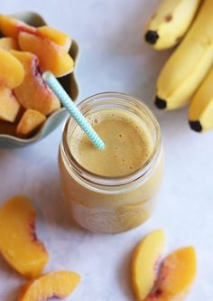 Peach Protein Smoothie | Hummusapien