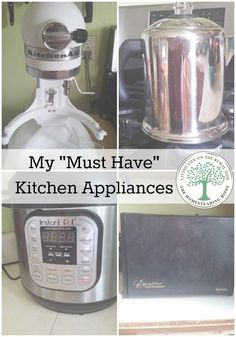 "Everybody has appliances they ""can't live without"". Here are my top 4 that make my life so much simpler and easier in the kitchen! The Homesteading Hippy"