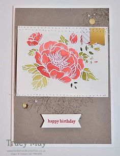 Birthday Blooms from Stampin' Up!, Tracy May, 2016 Spring/Summer Catalogue Sneak Peek