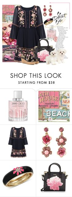 """""""Boho Floral"""" by melody-renfro-goldsberry ❤ liked on Polyvore featuring Jimmy Choo, French Connection, Betsey Johnson and Calvin Klein"""