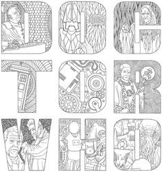 page from The Official Doctor Who Colouring Book
