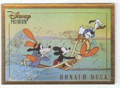 Disney's Donald, Goofy, and Mickey  Gold Premium 1937 Trading Card