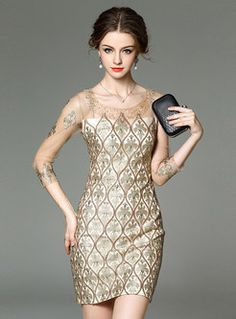 Shop for high quality Embroidery Mesh Patch Sequin Dress online at cheap prices and discover fashion at Ezpopsy.com