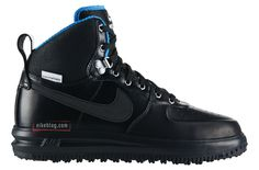 quality design 20a29 0c209 Nike Lunar Force 1 Sneakerboot Black, Metallic Silver, and Royal Blue Trim