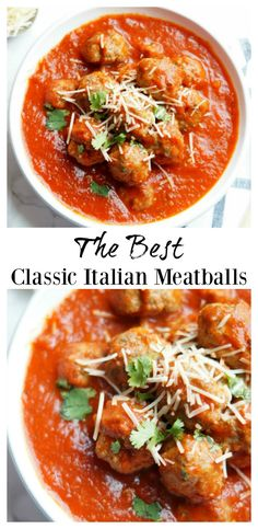 These are the best classic Italian meatballs!