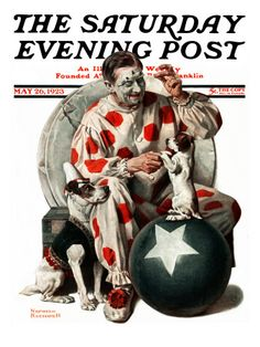 """Between the Acts"" Saturday Evening Post Cover, May 26,1923  Norman Rockwell"