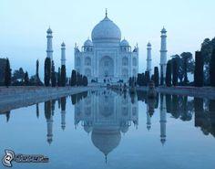 Taj Mahal , eau , reflexion