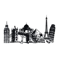Vinilos Ciudades y Monumentos del Mundo