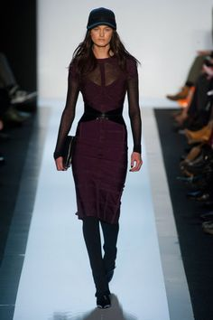 ... And we'll be wearing a baseball cap all Fall (Herve Leger)