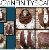 Lacy Infinity Scarf  ... different ways to wear it. Look at my dark green and bright green lacey infinity scarves on facebook.com Settena Accessories https://www.facebook.com/photo.php?fbid=581849605234302&set=pcb.581850331900896&type=1&theater