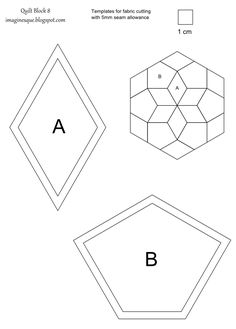 Imaginesque free quilt diamonds templates paper piecing a hexagon shape this time but also 30 centimetres in size measured from top to bottom i had planned to add quilt top versions with solid pronofoot35fo Choice Image