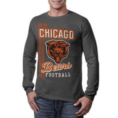 NFL Chicago Bears Vintage Vertical Lines Long Sleeve T-Shirt - Charcoal by NFL. $22.95. Chicago Bears Vintage Vertical Lines Charcoal Long Sleeve T-Shirt