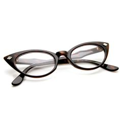 050f76618fe 1950s Vintage Mod Fashion Cat Eye Clear Lens Glasses 8435 Cute Glasses