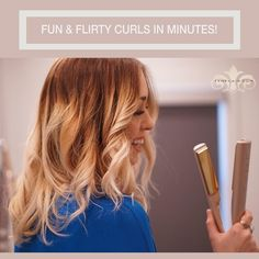 Let us help you perfect this look.  Free one on one STYLE TYME session with every TYME Iron purchase. #StyleTYME #TYMEIRON #tymestyle #curlsinminutes #hairstyle