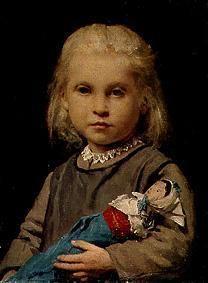 Albert Anker Fillette à la poupée