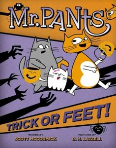 As Halloween approaches Mr. Pants, his mom and sisters, share a series of adventures as they choose costumes and get stuck at the airport when they miss their flight.