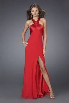 Front Split Backless Straps Red Evening Dress [v05501u1498] - $124.00 : Cheap Dresses Online - Buy Evening Dresses,Party Dresses Online